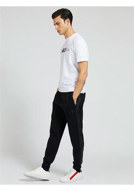 pantalone di tuta nero GUESS fitness | Pantaloni | U1GA11K6ZS1NERO