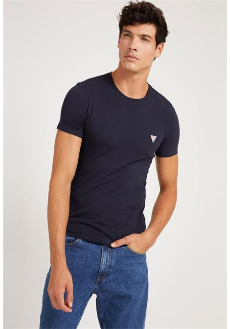 maglia basica blu GUESS man | T-shirt | M1RI24J1311BLU