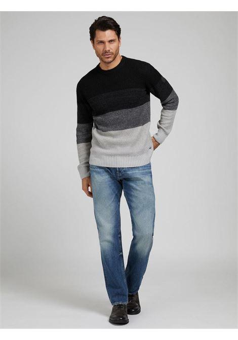 maglione rigato nero GUESS man | Maglieria | M1YR58Z2UY0S96Z