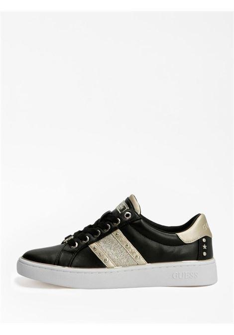 Sneaker nera e oro GUESS SCARPE | Scarpe | FL7BVLELE12NERO