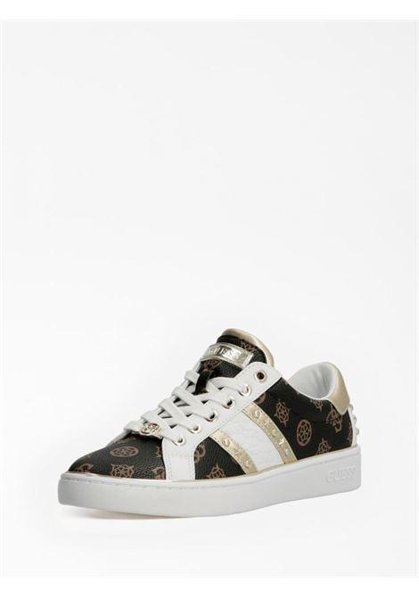 Sneaker logata e bianca GUESS SCARPE | Scarpe | FL7BVLFAL12LOGATO