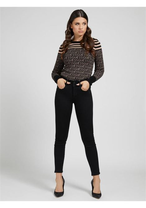 Jeans nero GUESS | Jeans | W1BA34D4F51NERO