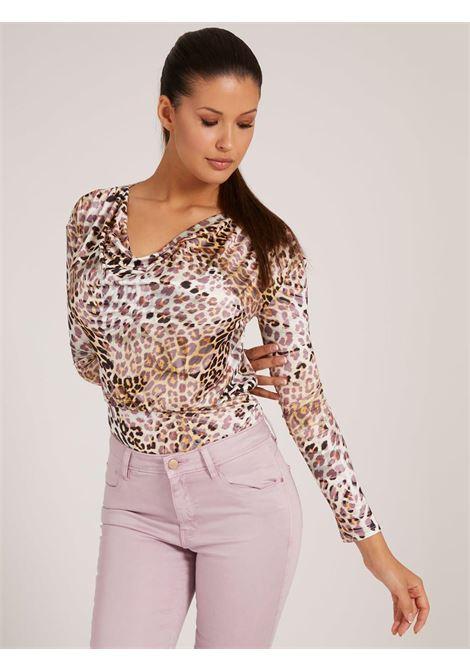 body leopardato GUESS | Camicie | W1BP13K4JZ1LEOPARDO