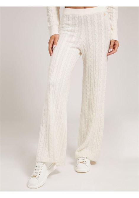 pantalone in maglia bianco GUESS   Pantaloni   W1BR07Z2QA0PANNA