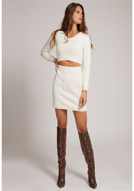 maglione crop bianco GUESS | Maglieria | W1BR43Z2WJ0BIANCO