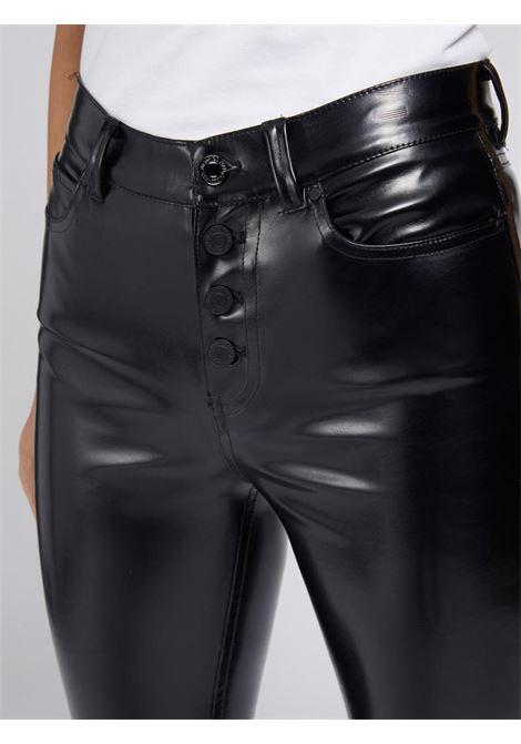 Pantalone nero in ecopelle GUESS | Pantaloni | W1YA28WE0X0NERO