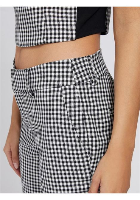Pantalone a quadretti bianco e nero GUESS | Pantaloni | W1YB84WE0J2NERO