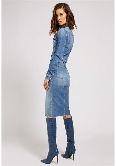 abito in jeans midi GUESS | Abiti | W1YK49D46ACSRVV
