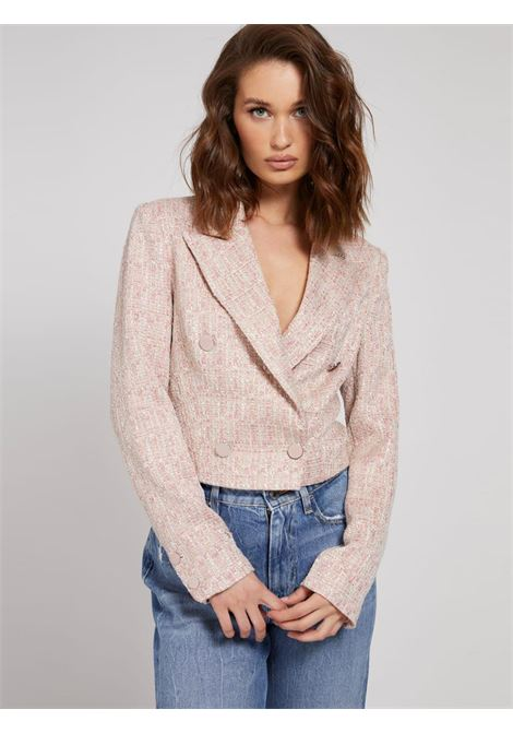 giacca corta rosa GUESS | Capispalla | W1YN49WE0G0PINK