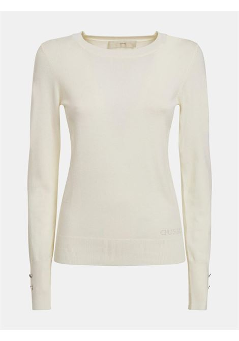 Maglione bianco GUESS | Maglieria | W1YR02Z2V60BIANCO