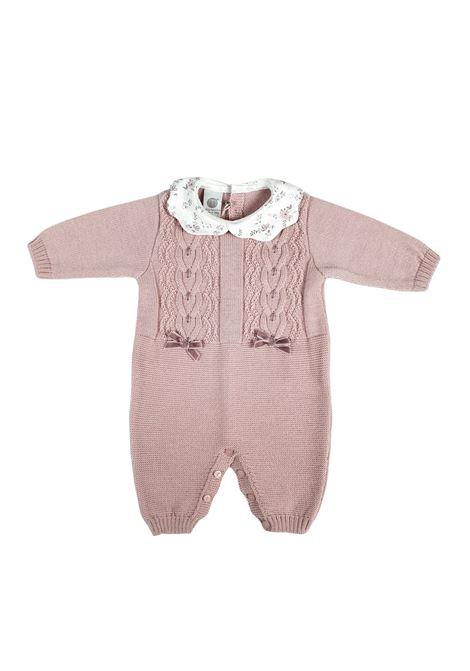tutina in lana marsala e colletto fantasia marlu | Tutine | IC1010MARSALA