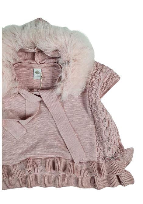 mantella con cappuccio in pelliccia marsala marlu | Capispalla | IC1042MARSALA