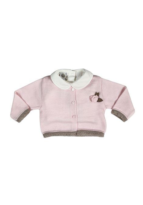 tutina 3 pezzi in lana rosa e tortora marlu | Tutine | IC1560MUROSA TORTORA