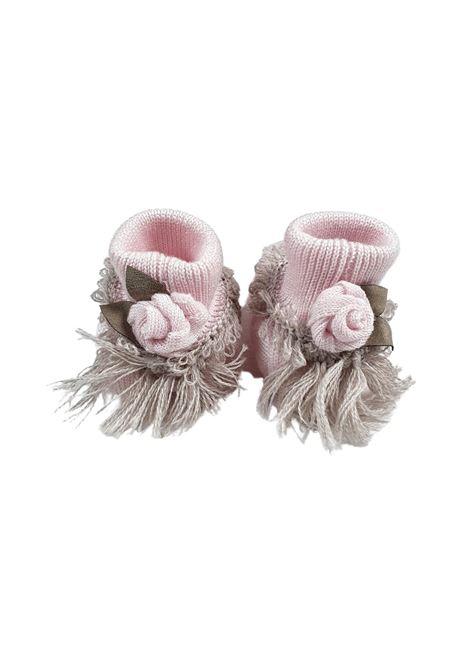Scarpa calzino in lana rosa e tortora marlu | Scarpe | IC15SROSA TORTORA
