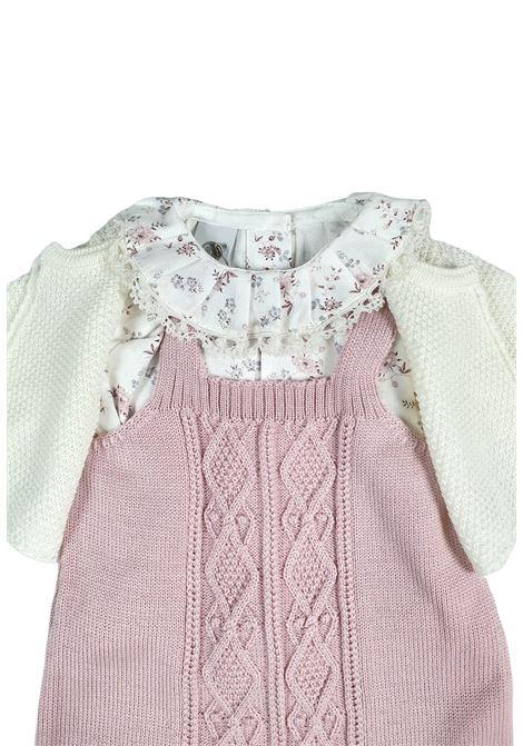 completo 3 pezzi in lana color vaniglia e marsala marlu | Tutine | IC1660VANIGLIA MARSALA