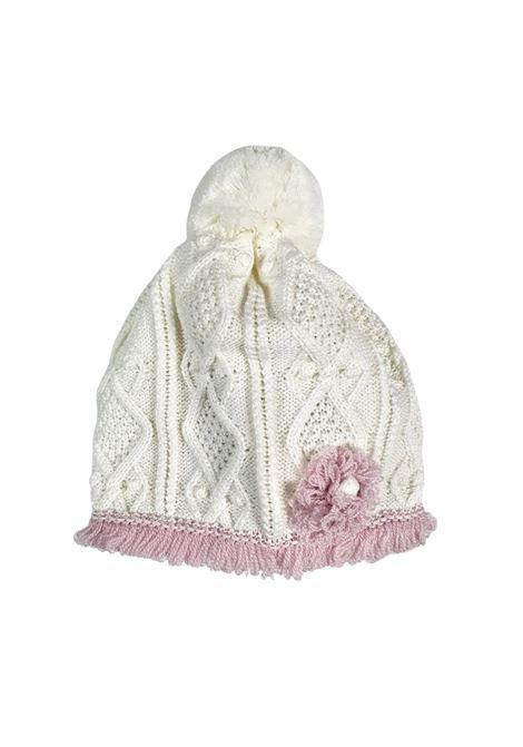 cappello in lana con pon pon vaniglia marlu | Cappelli | IC1671VANIGLIA MARSALA
