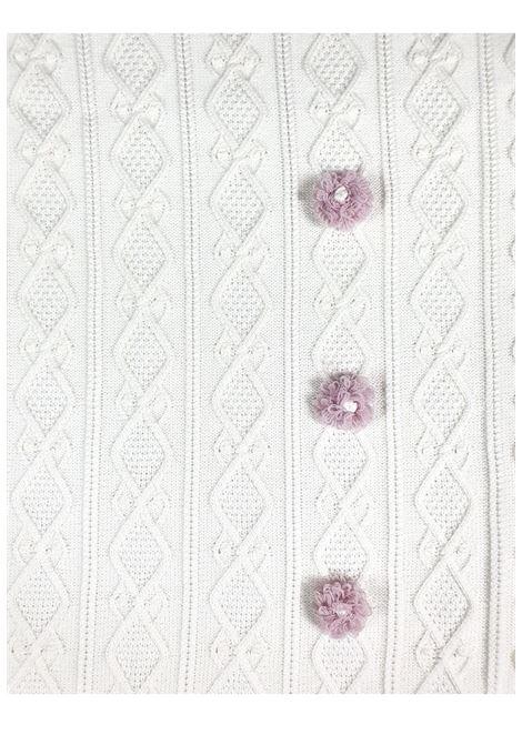 coperta in lana color vaniglia e applì marsala marlu | Coperte | IC1680VANIGLIA MARSALA