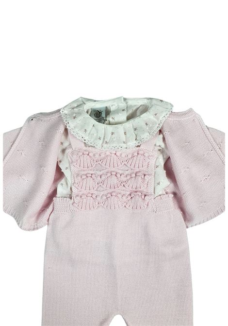 completo 3 pezzi in lana color rosa e grigio marlu | Tutine | IC1760ROSA GRIGIO