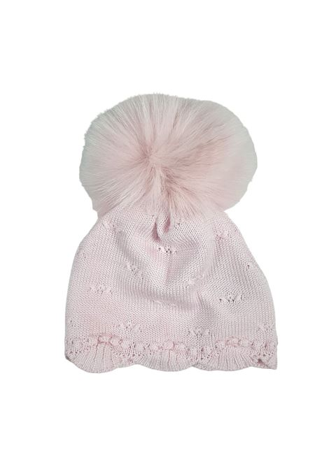 cappello in lna rosa con pon pon marlu | Cappelli | IC1771ROSA