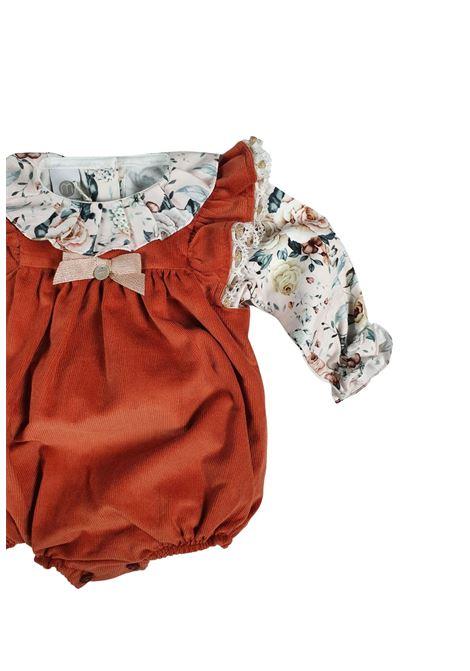pagliaccetto acero con camicia floreale marlu | Tutine | IC2030ACERO