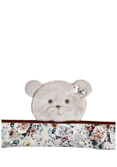 coperta in caldo cotone panna con orso ricamato marlu | Coperte | IC2081PANNA ROSA