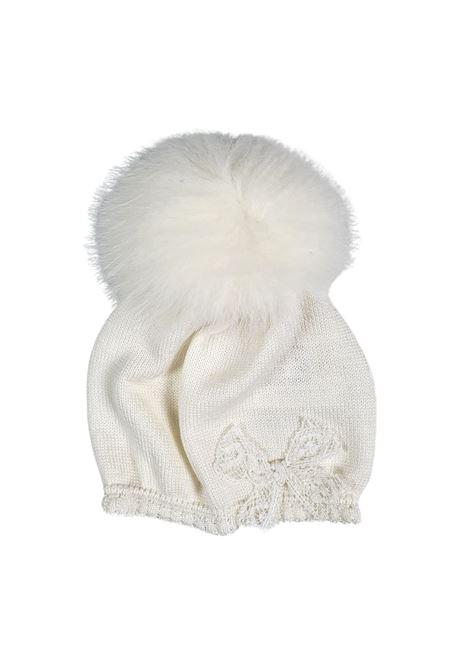 cappello in lana con pon pon vaniglia marlu | Cappelli | IC2371VANIGLIA