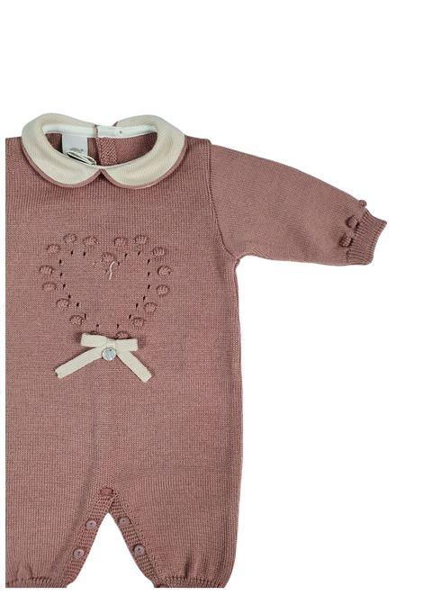 tutina in lana melograno con colletto marlu | Tutine | IC2410MELOGRANO