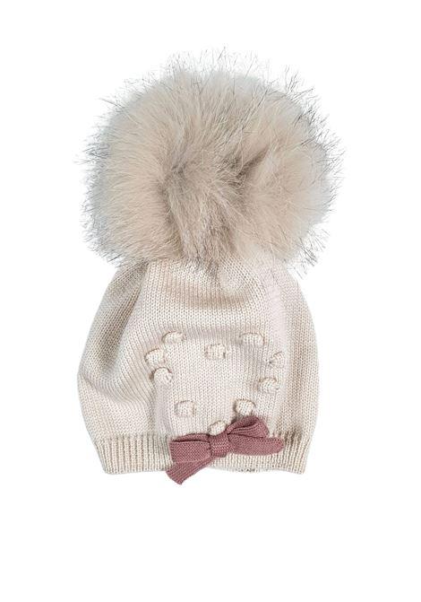 cappello in lana con pon pon marlu | Cappelli | IC2471MELOGRANO