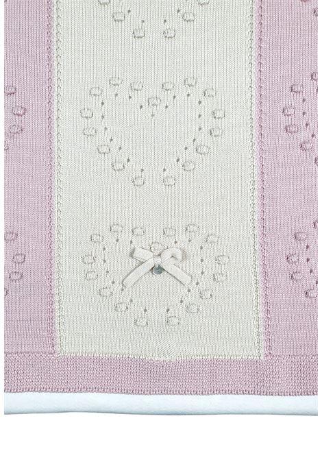 coperta in lana con cuori rosa e marsala marlu | Coperte | IC2480MARSALA