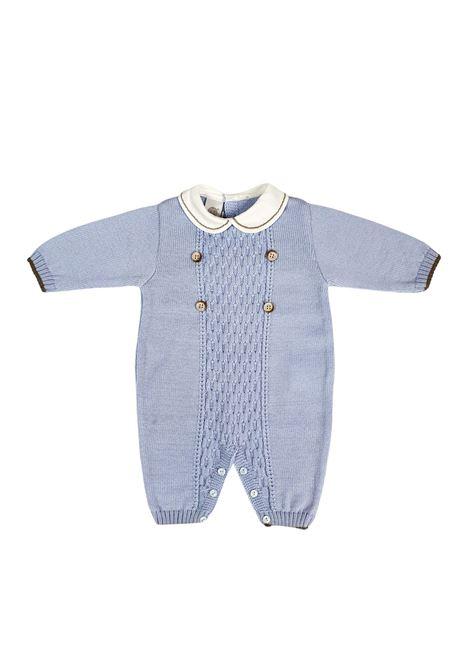 tutina in lana cielo con colletto a contrasto marlu | Tutine | IC5310CIELO