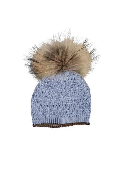 cappello in lana con pon pon in pelliccia marlu | Cappelli | IC5371CIELO