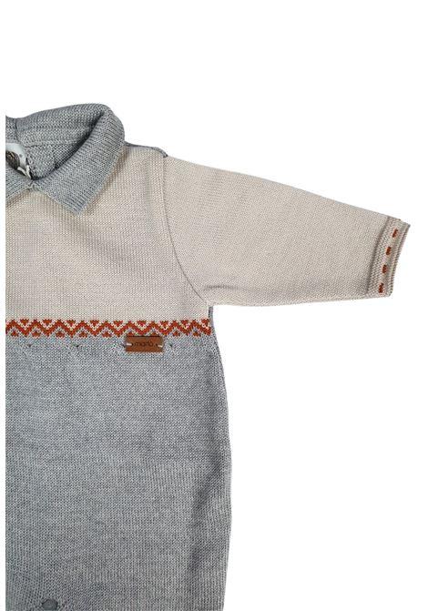 tutina in pelliccia con colletto grigia e ruggine marlu | Tutine | IC5710NATURALE GRIGIO