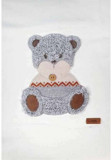 coperta in cotone con orsetto grigio e acero marlu | Coperte | IC5781PANNA GRIGIO ACERO