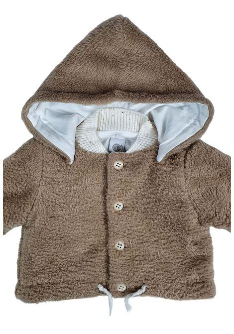 cappottino in pelliccia con cappuccio removibile nocciola marlu | Capispalla | IC5943NOCCIOLA