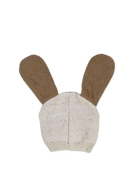 cappello in lana con orecchie color  panna e cacao marlu | Cappelli | IC5975PANNA CACAO