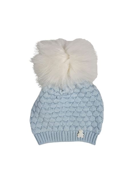 cappello in lana con pon pon marlu | Cappelli | IC6071CIELOBIANCO