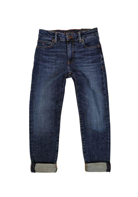 jeans scuro 5 tasche tommy hilfiger   Pantaloni   B062801BJ