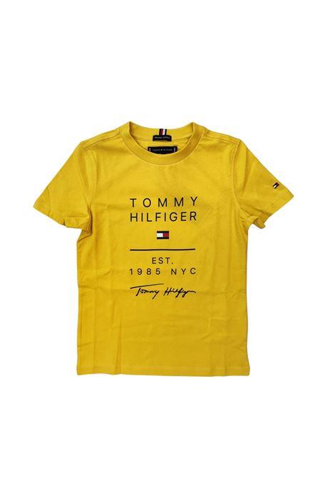 t-shirt gialla 1985 tommy hilfiger   T-shirt   B06306TZFU