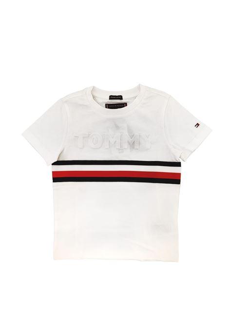 t-shirt bianca tommy tommy hilfiger   T-shirt   B06320TYBR