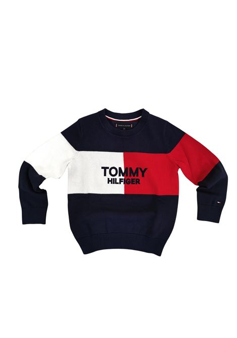 maglioncino logo frontale T.H. tommy hilfiger   Felpe   B06375C87