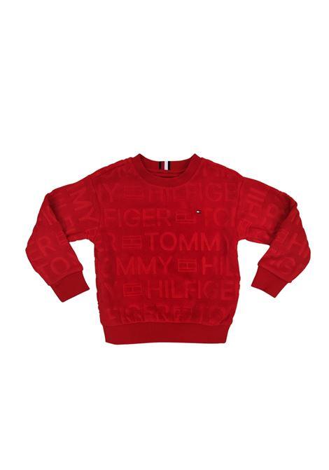 maglione all logo rosso tommy hilfiger   Maglieria   B06981XNL
