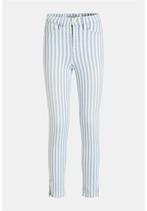 Pantalone rigato guess GUESS | Pantaloni | W0GA18D4051UNI