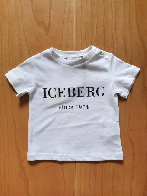 T-SHIRT BASIC SCRITTA FRONTALE BIANCA iceberg | T-shirt | TSICE1103BUNI