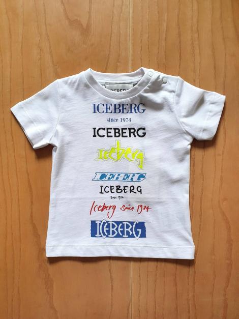 T-SHIRT BIANCA SCRITTE COLORATE FRONTALI iceberg | T-shirt | TSICE1111BUNI