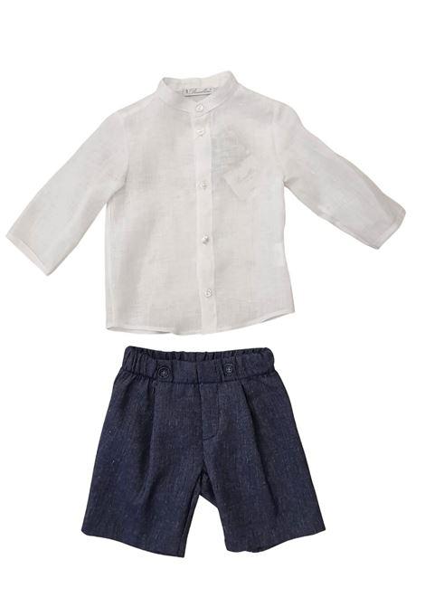 completo due pezzi camicia in lino e short barcellino | Completi | 9304UNI