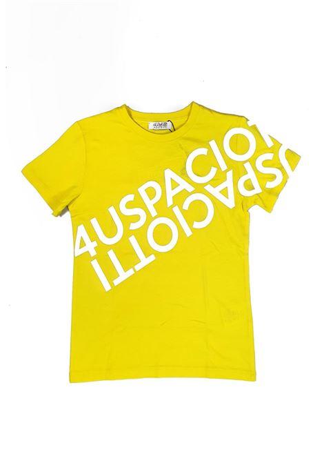 T-SHIRT GIALLA CON STAMPA 4USPACIOTTI cesare paciotti | T-shirt | TSP1120JUNIGIALLO