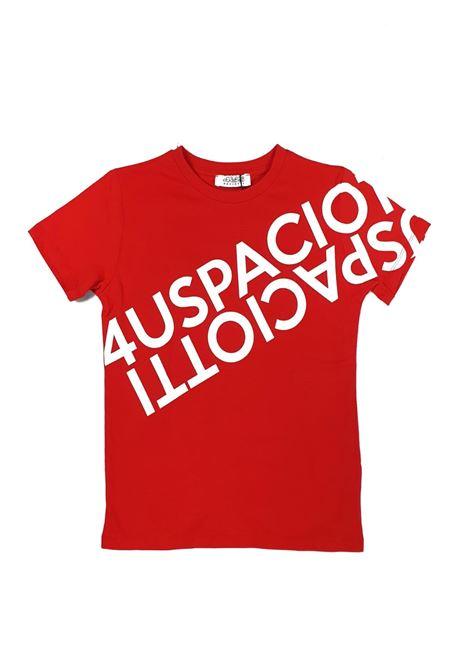 T-SHIRT ROSSA CON STAMPA 4USPACIOTTI cesare paciotti | T-shirt | TSP1120JUNIROSSO