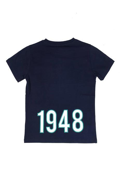 T-SHIRT BLU STAMPA POSTERIORE 1948 cesare paciotti | T-shirt | TSP1121JUNI