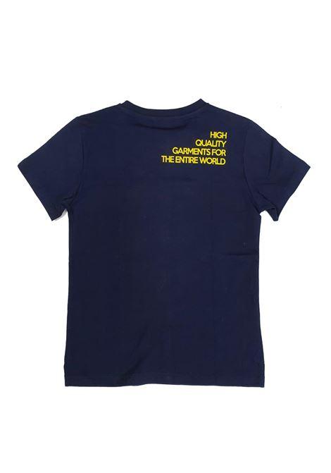 T-SHIRT BLU STAMPA FRONTE RETRO 4US cesare paciotti | T-shirt | TSP1125JUNI