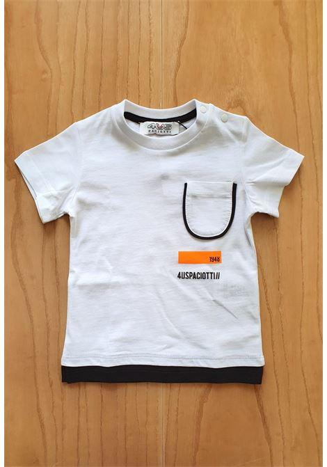 T-SHIRT BIANCA CON TASCHINO FRONTALE cesare paciotti | T-shirt | TSP1158BUNI